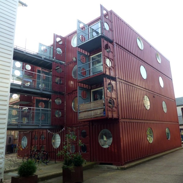 London s intermodal container village container home review - Container homes london ...